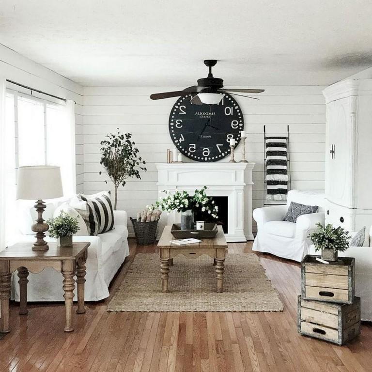 90 Incredible Modern Farmhouse Exterior Design Ideas 12: 20+ Beatiful Farmhouse Living Room Decor Ideas