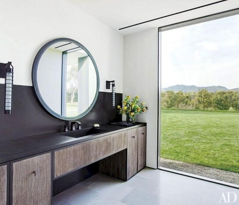 90 Incredible Modern Farmhouse Exterior Design Ideas 12: 55 Good Inspired Vintage Powder Room