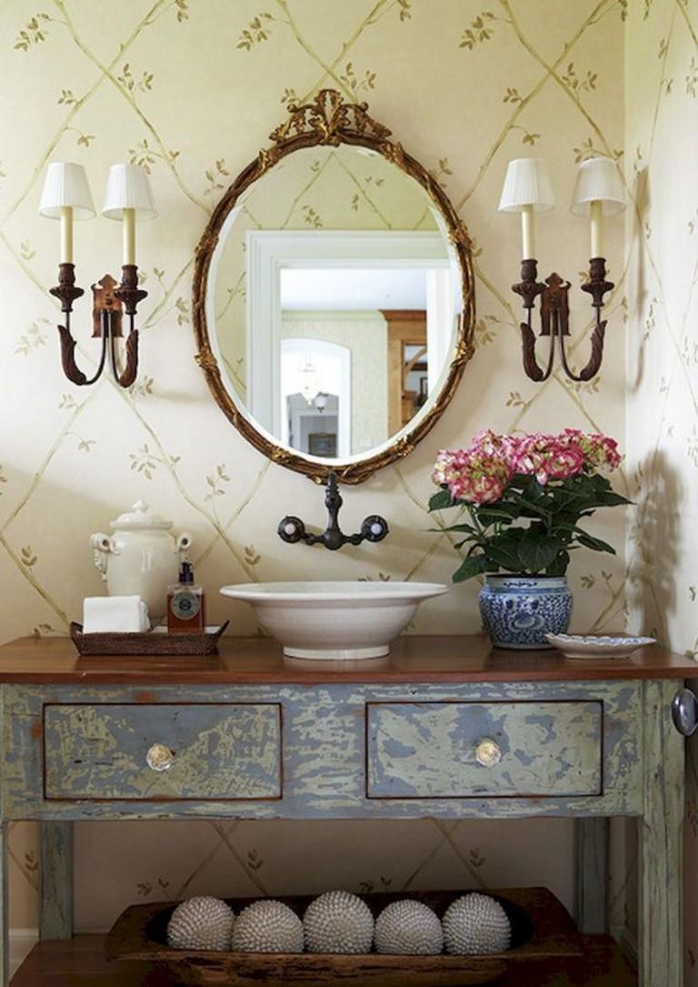 55 Good Inspired Vintage Powder Room