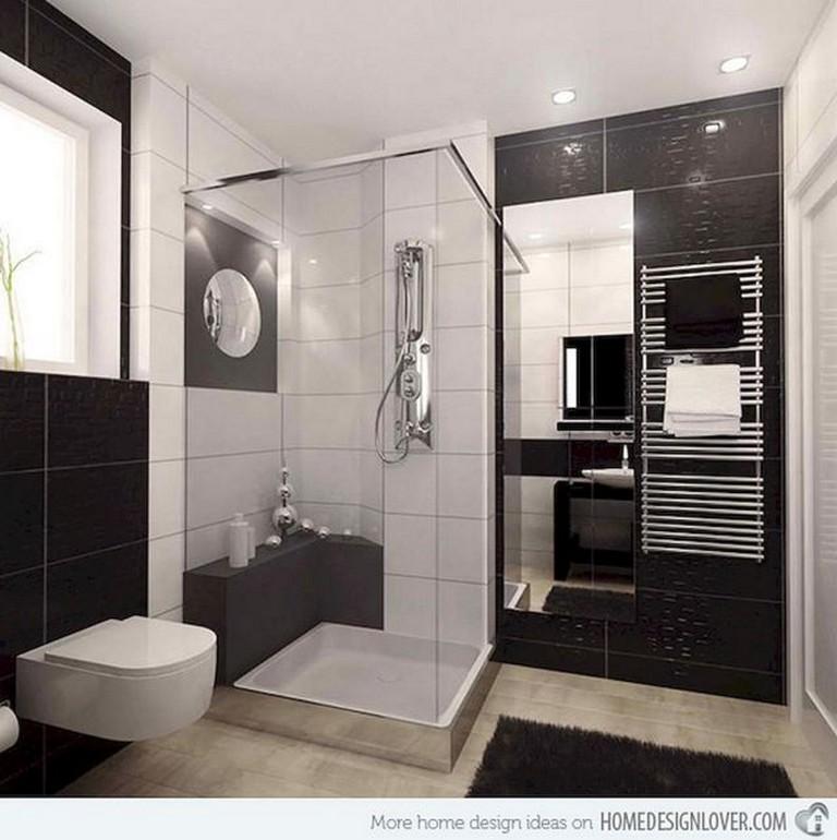 15 Amazing Black and White (Monochrome) Bathroom Design ... on Monochromatic Bathroom Ideas  id=88210