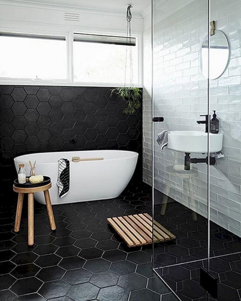 15 Amazing Black and White (Monochrome) Bathroom Design ... on Monochromatic Bathroom Ideas  id=84361