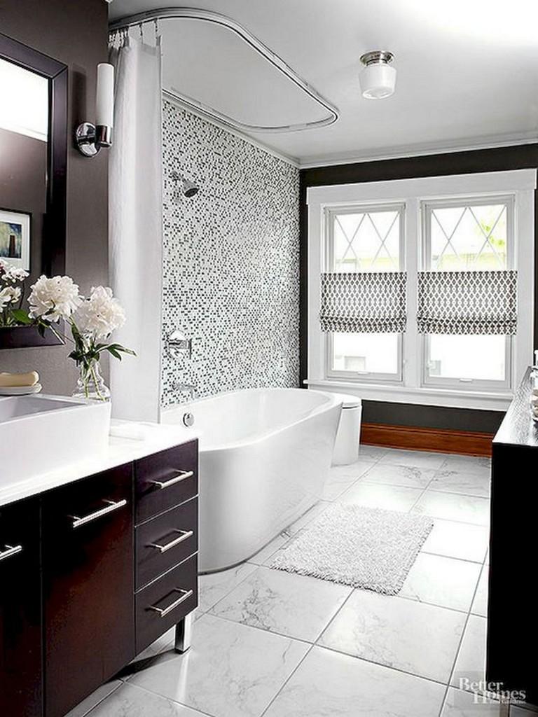15 Amazing Black and White (Monochrome) Bathroom Design ... on Monochromatic Bathroom Ideas  id=94576